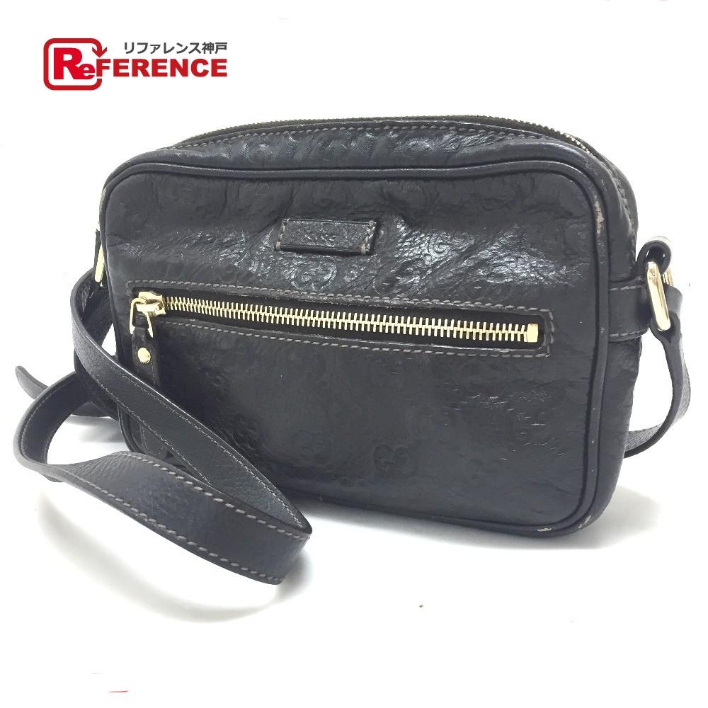 83b35cdde87 AUTHENTIC GUCCI Guccissima JOY (Joy) Crossbody Shoulder Bag Shoulder Bag  Black Shima Leather 201447