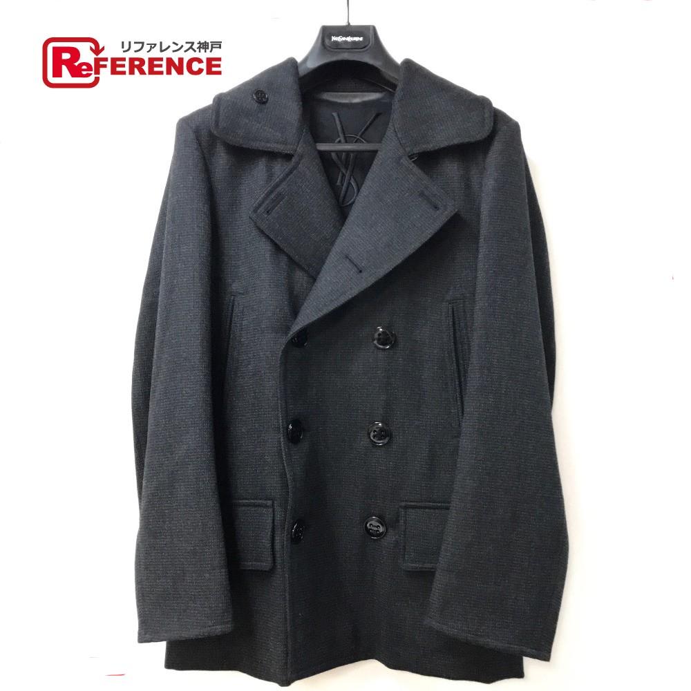 7c47705b458 YVES SAINT LAURENT Yves Saint-Laurent 241969 jacket outer YSL pea coat hair  100% ...