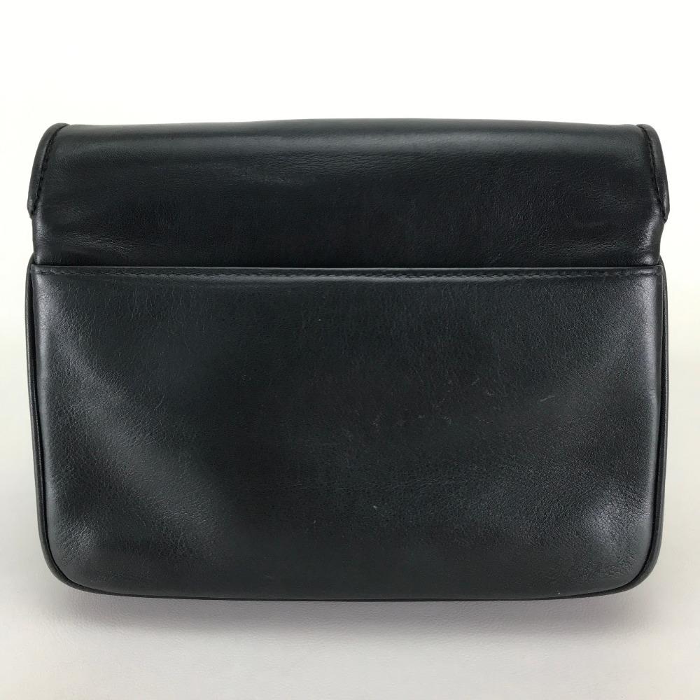 BRANDSHOP REFERENCE  AUTHENTIC CELINE vintage Big Logo Chain bag Pochette Shoulder  Bag Black Leather   f905dfca8f970