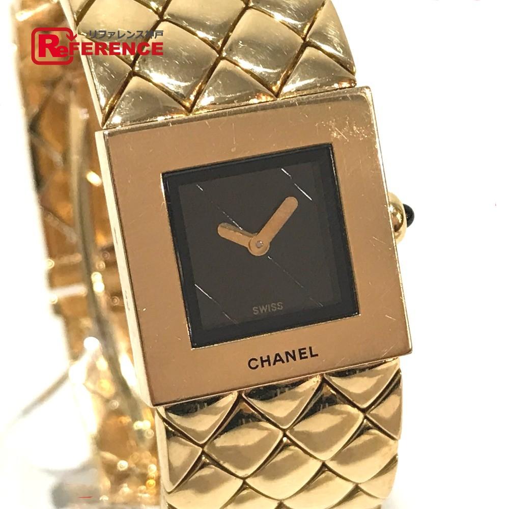 CHANEL シャネル H0008 レディース腕時計 マトラッセ 金無垢 腕時計 K18YG イエローゴールド レディース【中古】