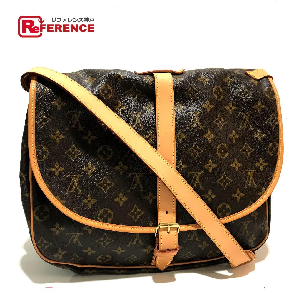 8ec37a329437 AUTHENTIC LOUIS VUITTON Monogram Saumur 35 Crossbody Shoulder Bag  MonogramCanvas M42254