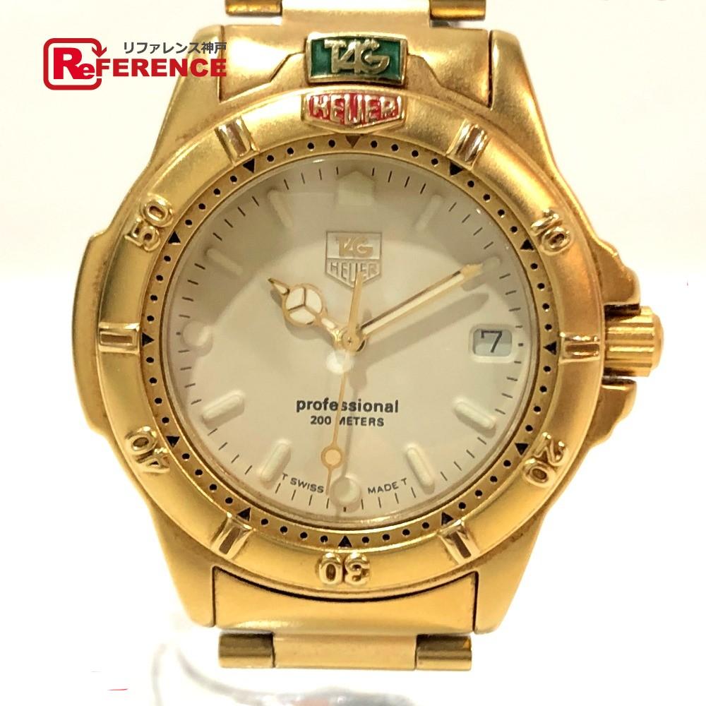 TAG HEUER タグホイヤー 994.713K プロフェッショナル 4000シリーズ ボーイズ腕時計 デイト 腕時計 SS×GP ゴールド メンズ【中古】