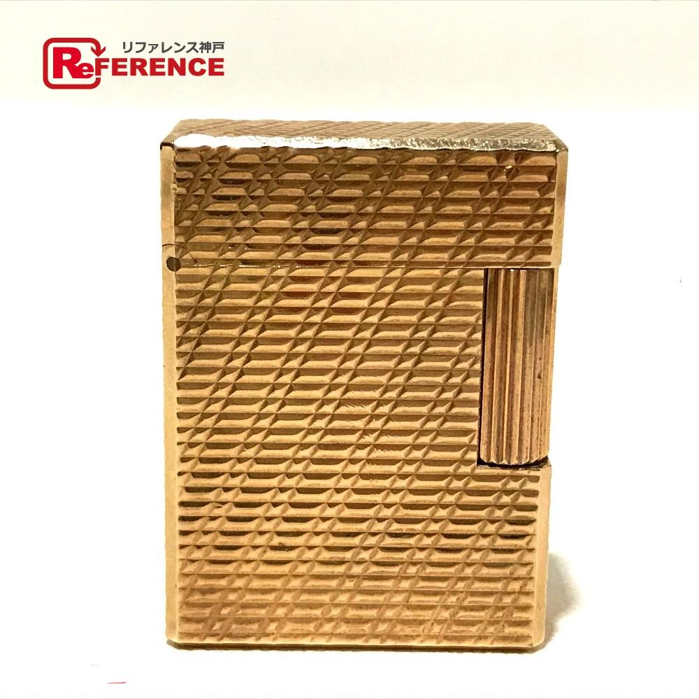 S.T.Dupont エス・テー・デュポン ローラガスライター メンズ レディース ライン1L ライター 真鍮 ゴールド ユニセックス【中古】