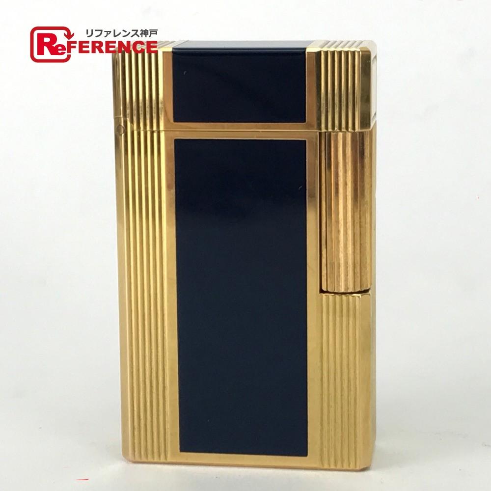 S.T.Dupont エス・テー・デュポン 喫煙具 ライン1L ライター 真鍮/ラッカー ゴールド メンズ【中古】