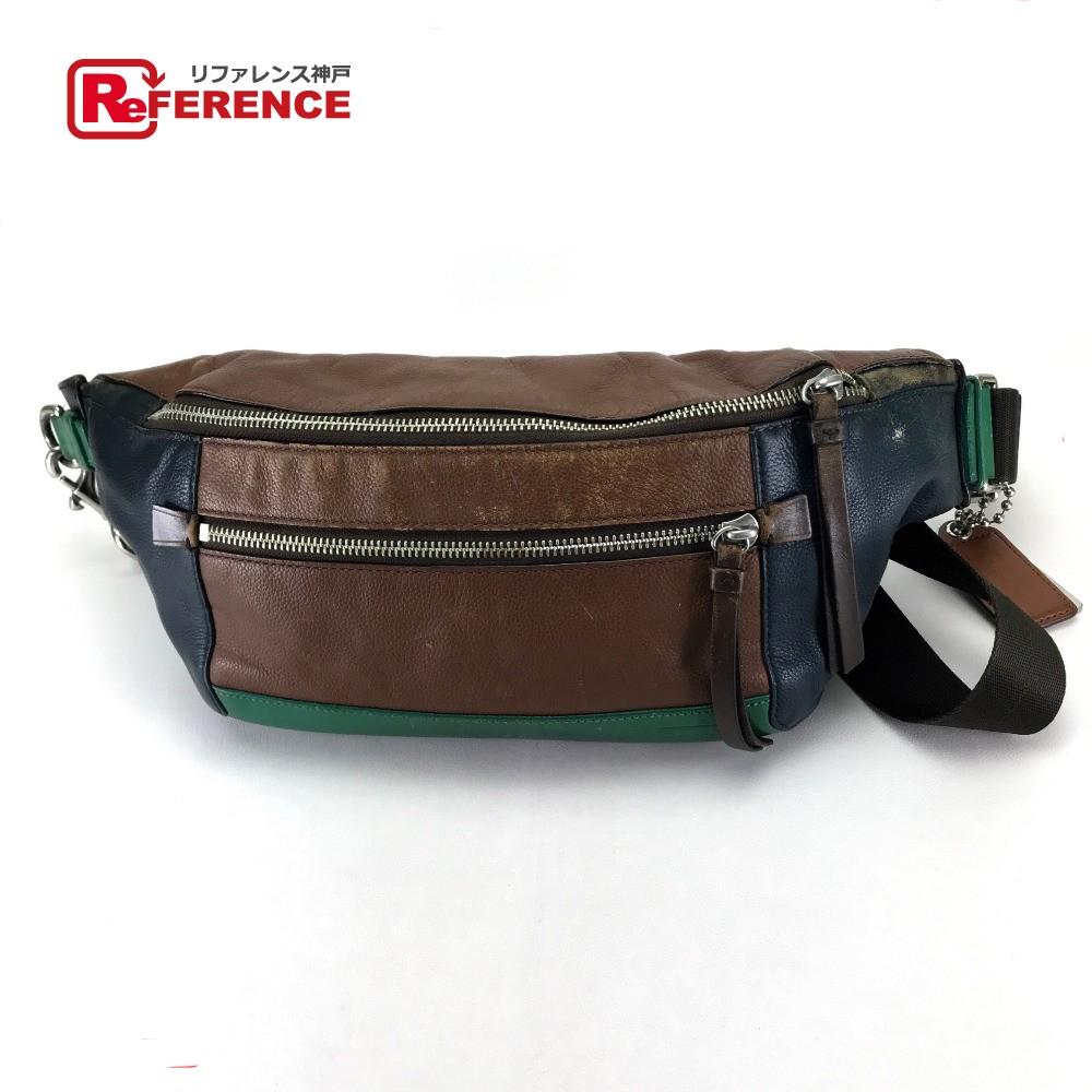 0802c7a1f COACH coach 70899 belt bag waist porch Thompson charm body bag leather  brown men belonging to ...