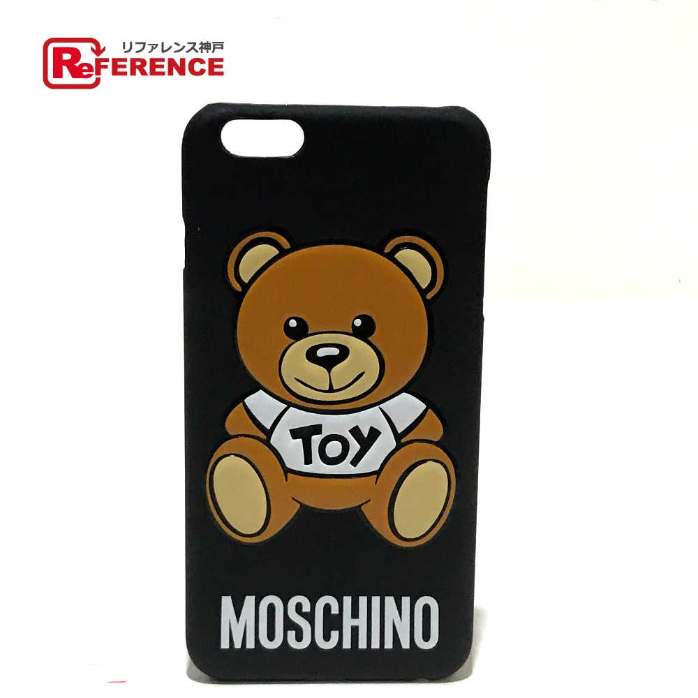 the latest 3420d a1731 AUTHENTIC MOSCHINO IPhone case Teddy bear iPhone 6 / iPhone 6 + compatible  Smartphone case Black/Brown Plastic/Rubber material B2 B7994