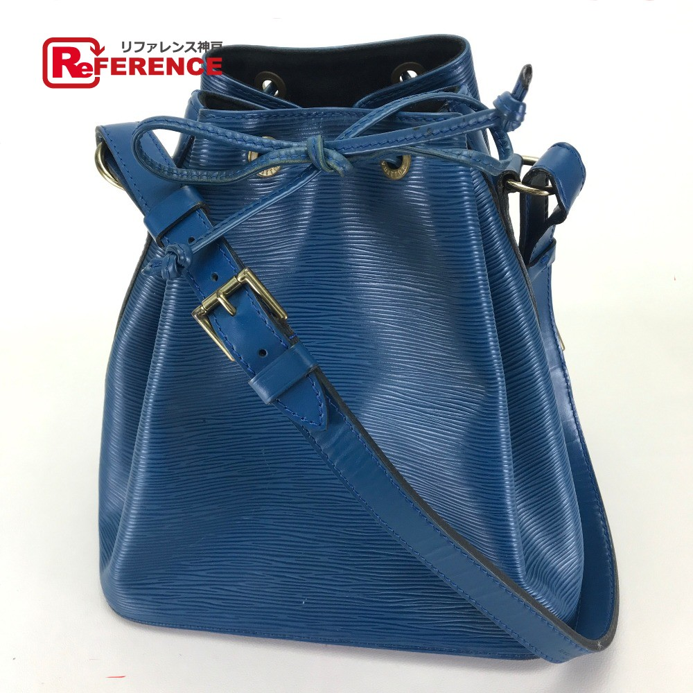 207775e5df6f AUTHENTIC LOUIS VUITTON Epi Petit Noe Drawstring Shoulder Bag Shoulder Bag  blue Epi Leather M44105