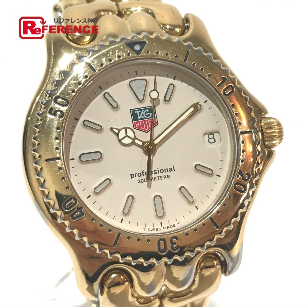TAG HEUER タグホイヤー S94.006 メンズ腕時計 セルシリーズ デイト 腕時計 SS/GP ゴールド メンズ【中古】