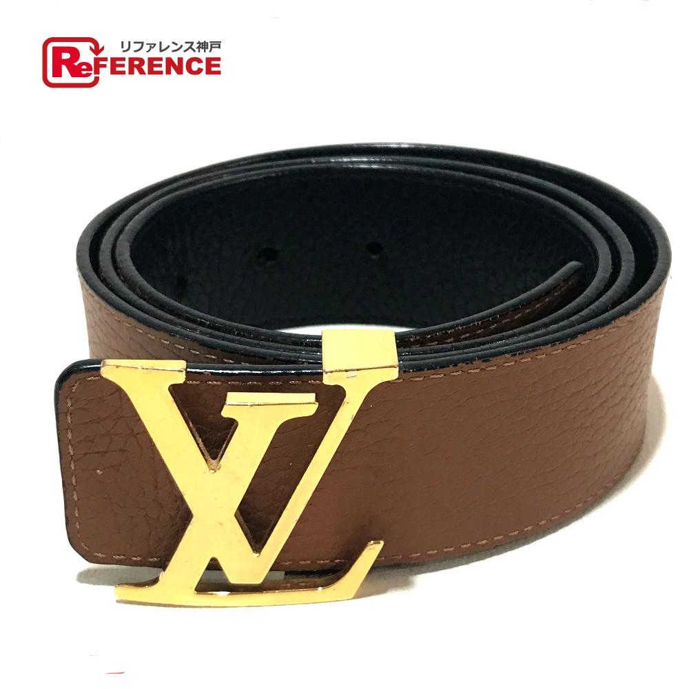 4496d32374be AUTHENTIC LOUIS VUITTON reversible Ceinture-LV- initials Men s Accessories belt  Brown Black Taurillon ClemenceLeather M9151V