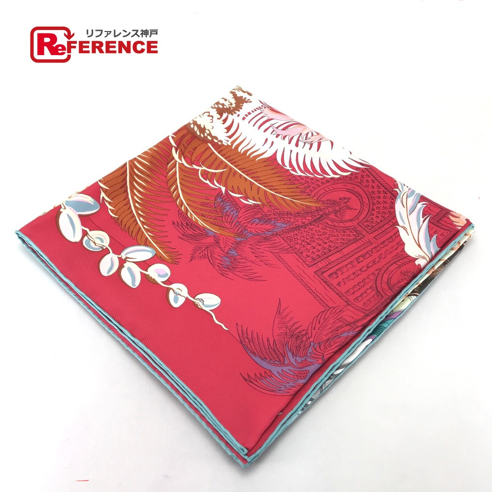 HERMES エルメス カレ140 A Cheval sur mon Carre/MYTHIQUES PHOENIX 切り替えデザイン スカーフ シルク100%/ マルチカラー レディース【中古】