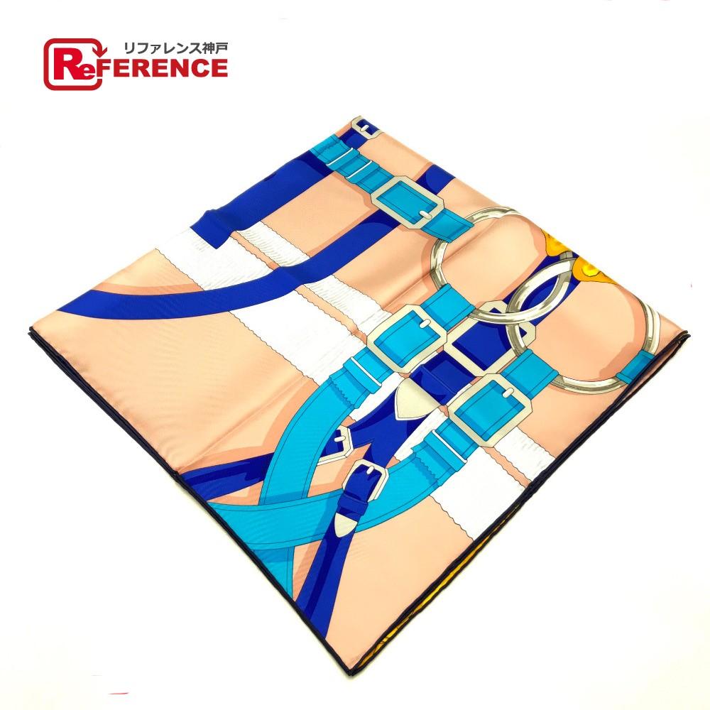 HERMES エルメス カレ 90 Grand Manege(大調教術 )  スカーフ シルク100%/ ベージュ レディース【新品】
