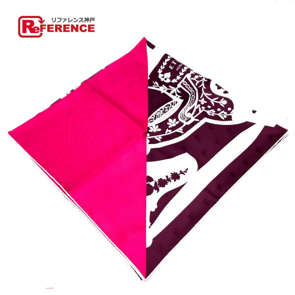 HERMES エルメス カレ90 タトゥアージュ Etriers (鎧 ) スカーフ シルク100%/ ピンク レディース【新品】