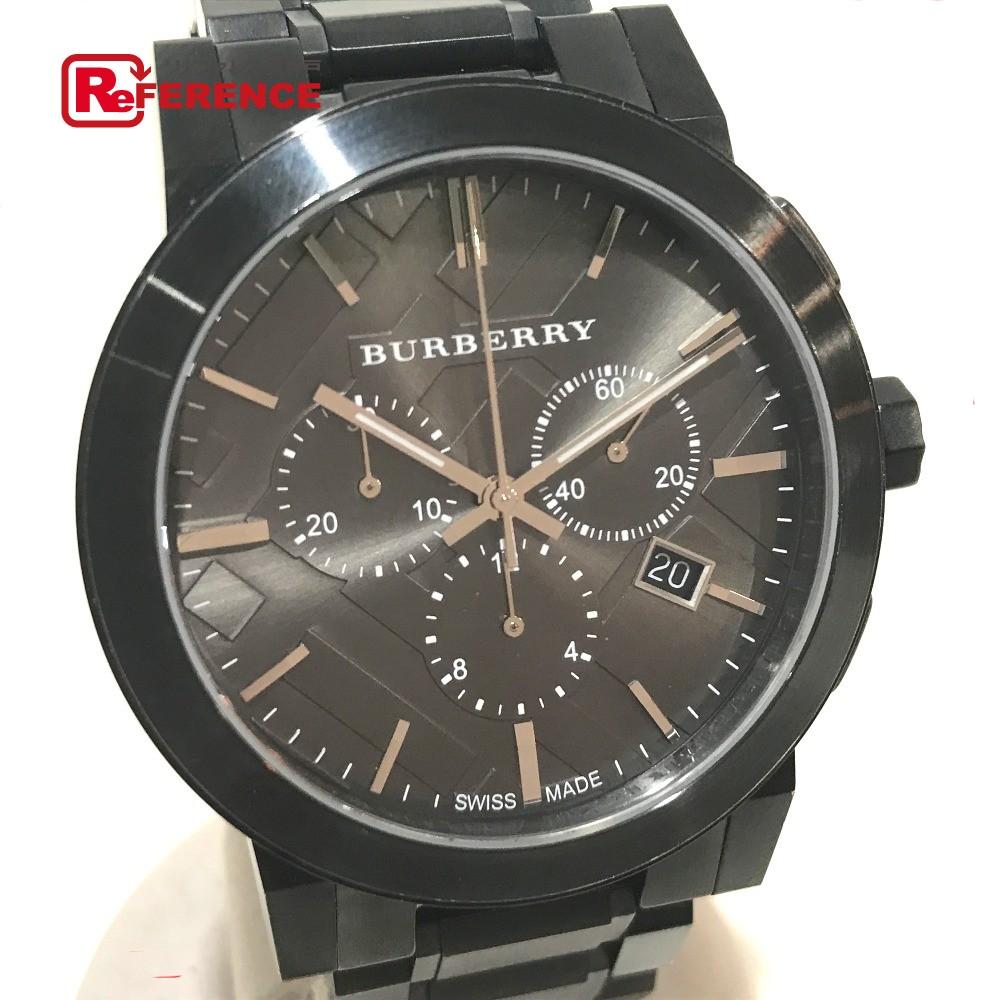 BURBERRY バーバリー BU9354 メンズ腕時計 シティ デイト 腕時計 SS ガンメタル メンズ【中古】