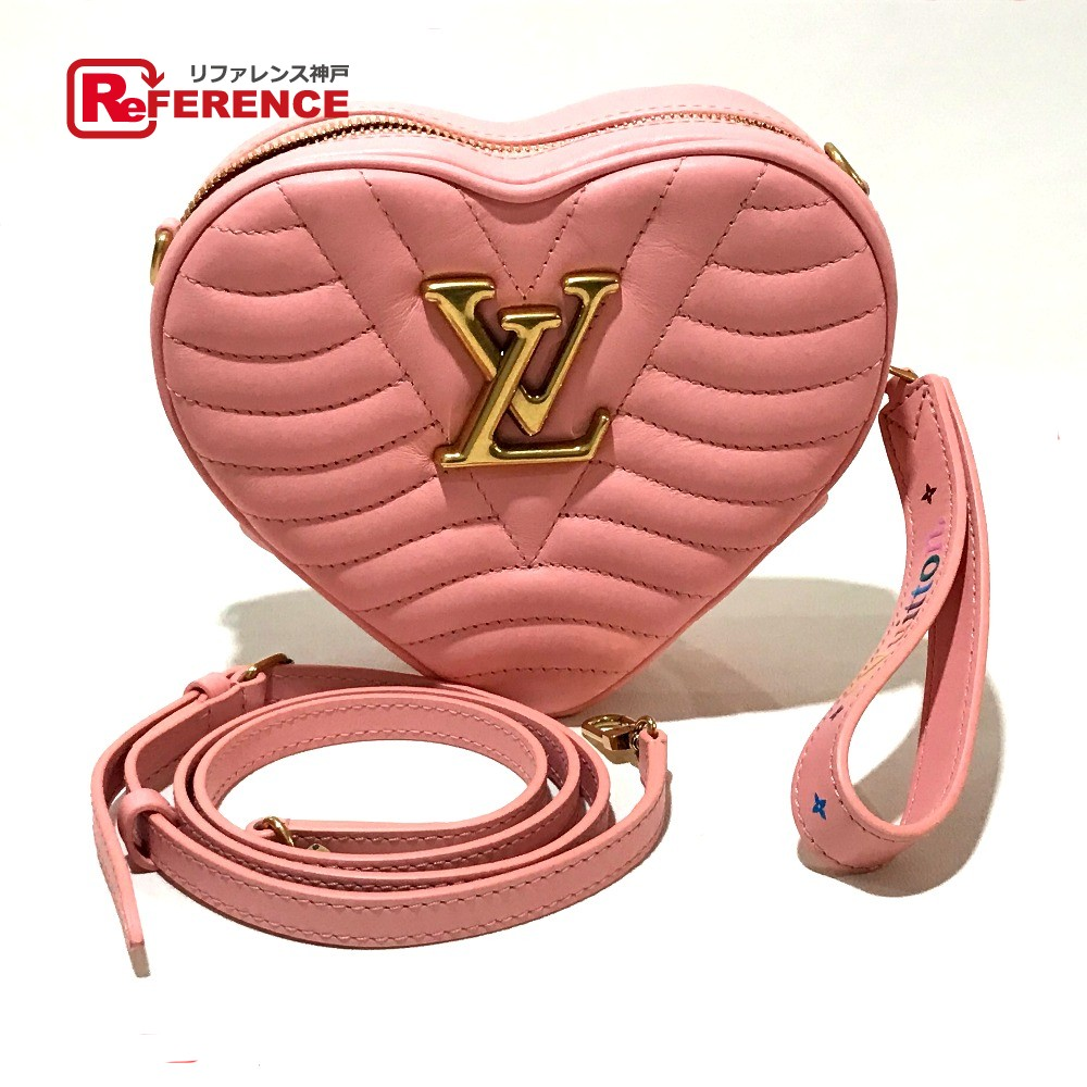 efdfef3ebbd9 AUTHENTIC LOUIS VUITTON Heart-bag Japan Online Limited Products 19 SS New  Wave Shoulder Bag Rose pommet Calf LeatherLeather M53769