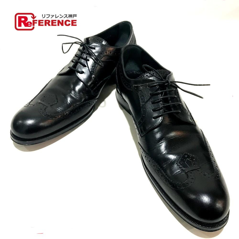 LOUIS VUITTON ルイ・ヴィトン ドレスシューズ ビジネスシューズ 紳士靴 レザーシューズ レザー ブラック メンズ【中古】