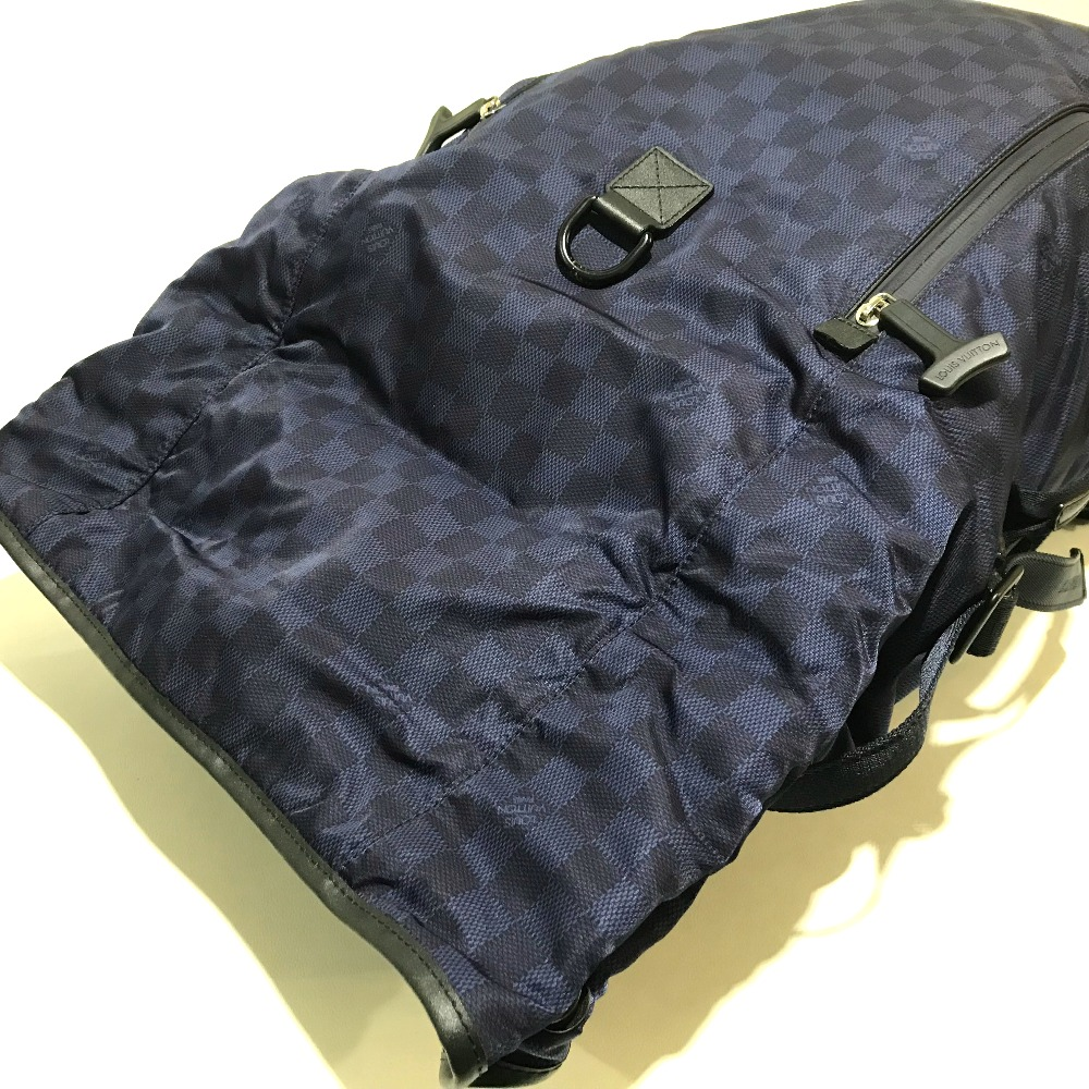 409e8e9326 AUTHENTIC LOUIS VUITTON 2012 LV Cup Collection Damier Challenge Sirocco Backpack  Backpack Backpack-Bag Navy x Black Nylon x Leather N41194