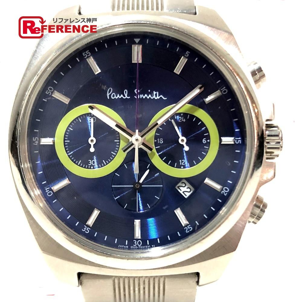 Paul Smith ポールスミス 0520-S092388 クロノグラフ デイト メンズ腕時計 腕時計 SS シルバー メンズ【中古】