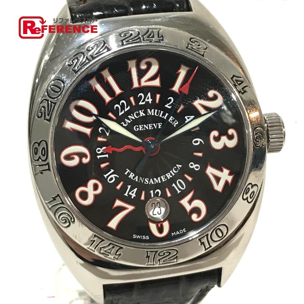 FRANCK MULLER フランクミュラー 2000 WW メンズ腕時計 トランスアメリカ ワールドワイド GMT デイト 腕時計 SS/革ベルト シルバー メンズ【中古】