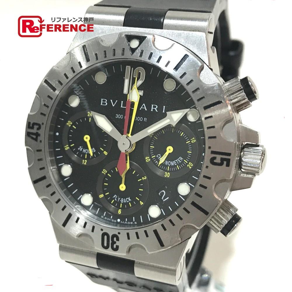 BVLGARI ブルガリ SC40S メンズ腕時計 スクーバ ディアゴノ 腕時計 SS/ラバー シルバー メンズ【中古】