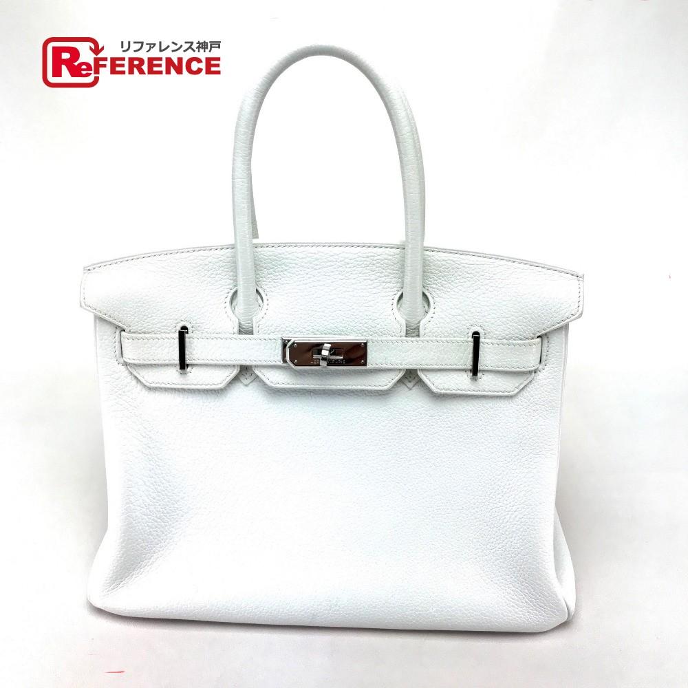 HERMES エルメス トートバッグ バーキン30 ハンドバッグ トゴ ホワイト レディース【中古】