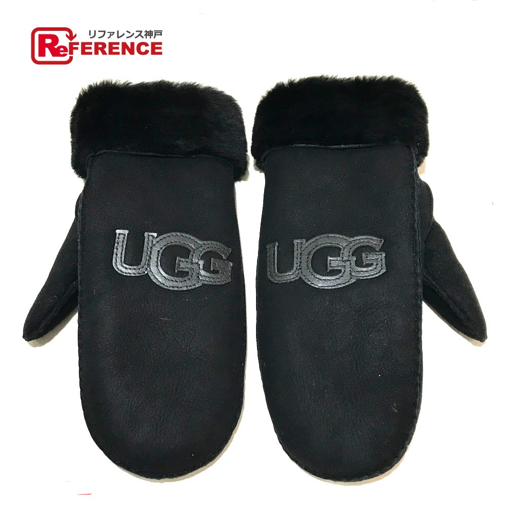 7893fe497c7 AUTHENTIC UGG Mittens Women's Accessories gloves A glove Black Mouton
