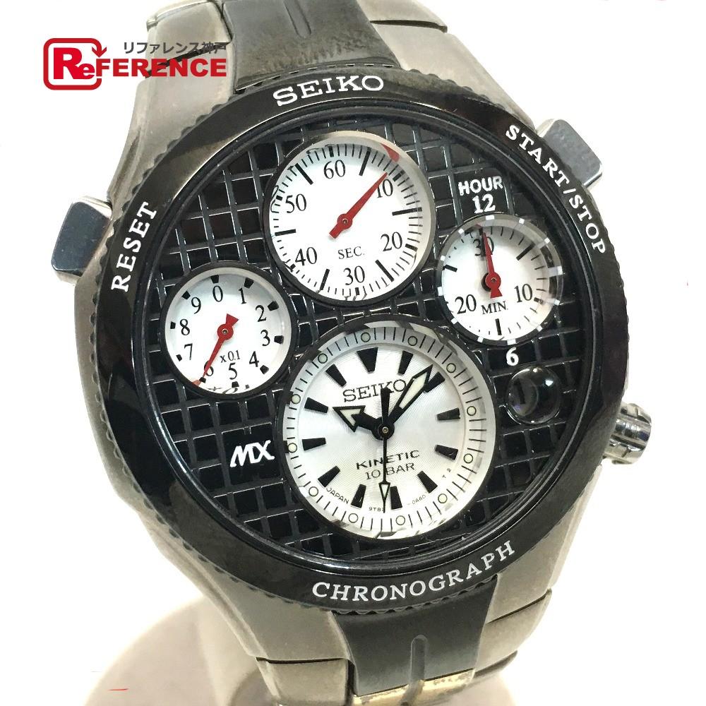 SEIKO セイコー 9T82-0A70 メンズ腕時計 オートクォーツ MX21世紀限定500本 スポーチュラ クロノグラフ 腕時計 SS/チタン シルバー メンズ【中古】