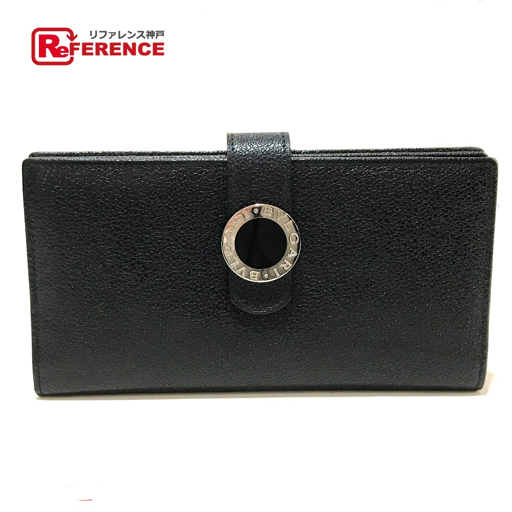 BVLGARI ブルガリ 22260 長財布 コローレ ブルガリブルガリ 二つ折り財布(小銭入れあり) レザー ブラック レディース【中古】