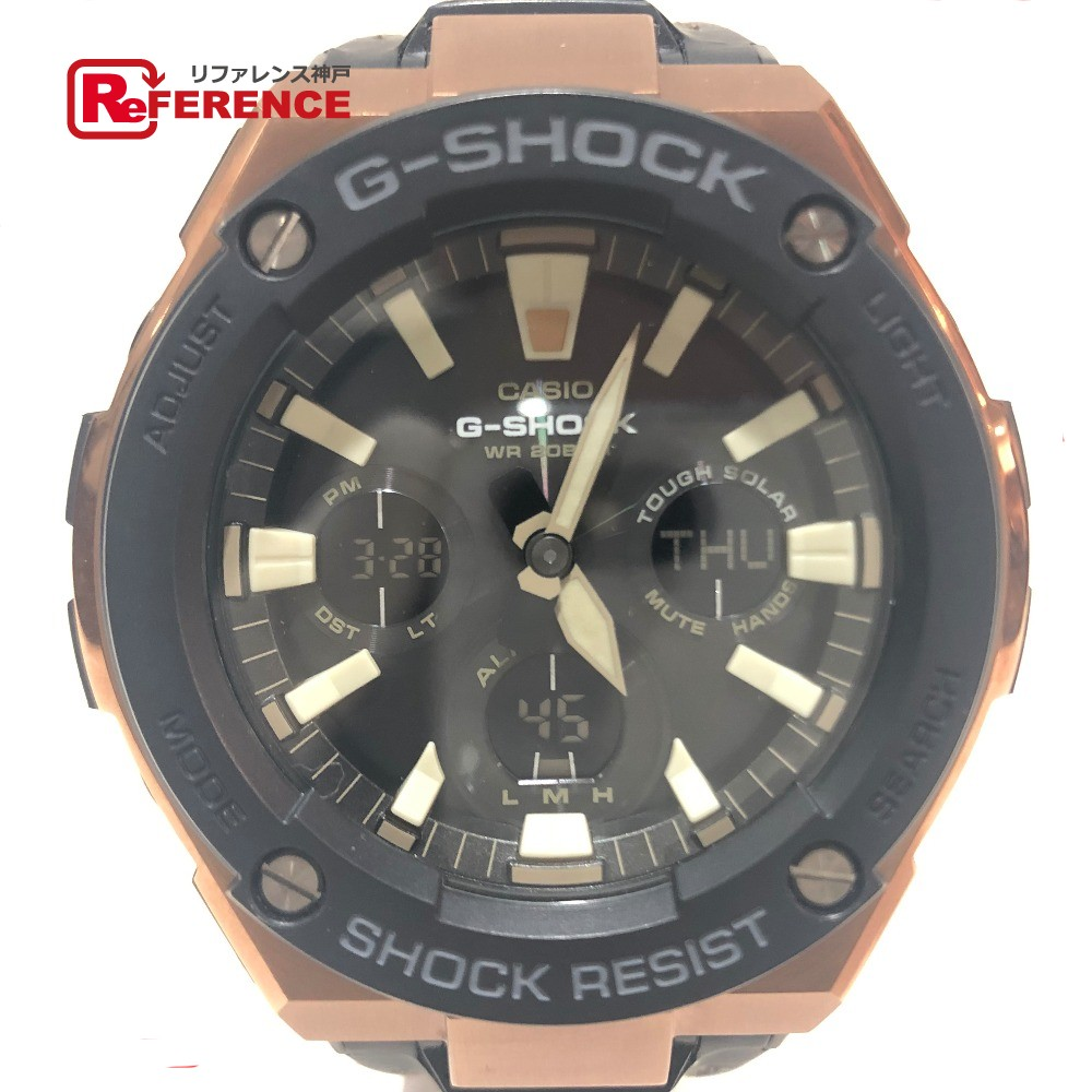 CASIO カシオ GST-S120L G-SHOCK 200M タフソーラー メンズ腕時計 腕時計 スチール/革ベルト ピンクゴールド メンズ【中古】