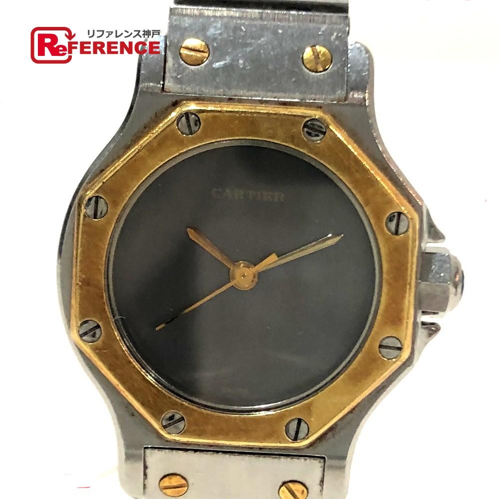 CARTIER カルティエ レディース腕時計 サントス オクタゴンSM コンビ 腕時計 K18YG/SS イエローゴールド×シルバー レディース【中古】