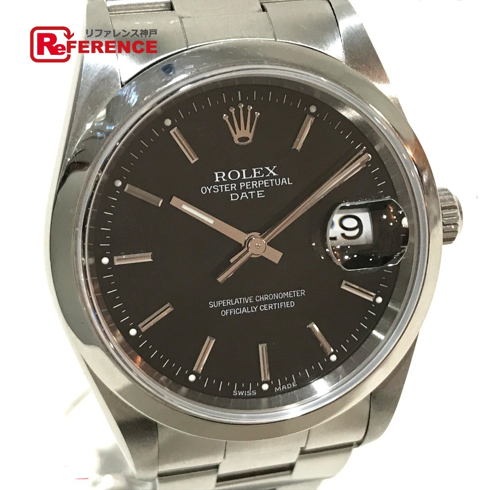 ROLEX ロレックス 15200 メンズ腕時計 オイスターパーペチュアル デイト 腕時計 SS シルバー メンズ【中古】