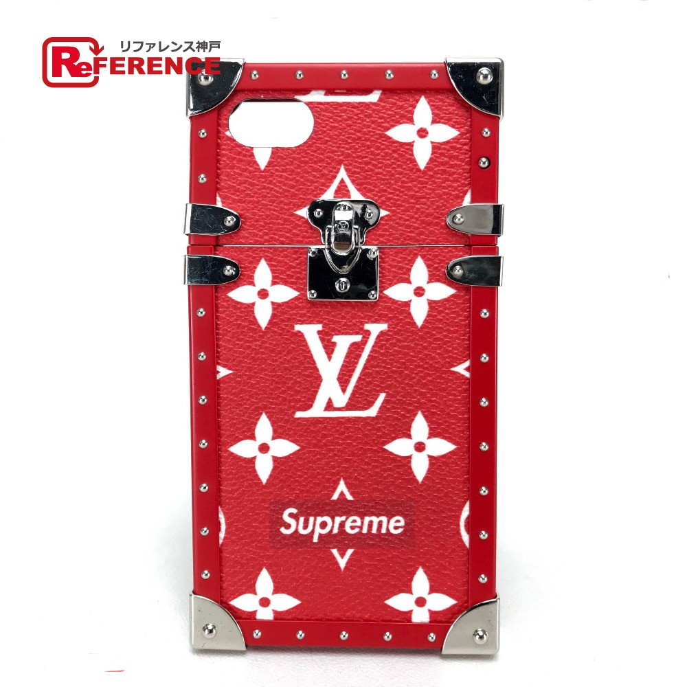 low priced de937 7bdef AUTHENTIC LOUIS VUITTON supreme Supreme I ・ Trunk IPHONE 7 IPHONE 7  compatible iPhone case Red MonogramCanvas/E1 M64499
