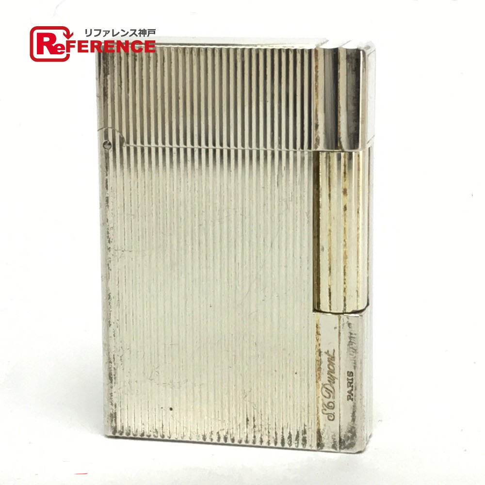S.T.Dupont エス・テー・デュポン 喫煙具 ギャツビー ヴァーティカルライン ライター 真鍮/ シルバー【中古】