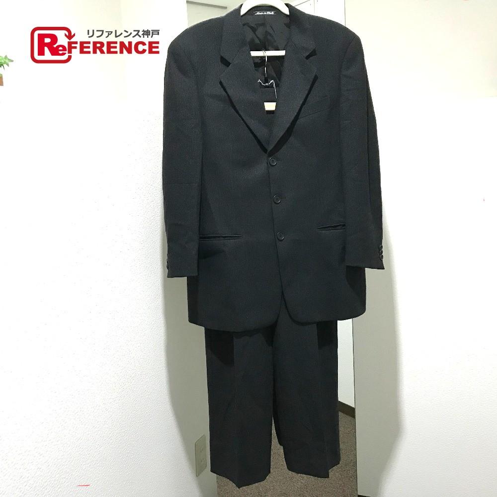 GIORGIO ARMANI ジョルジオアルマーニ スーツ ジャケット&長ズボン タグ有 セットアップ ダークグレー メンズ【中古】