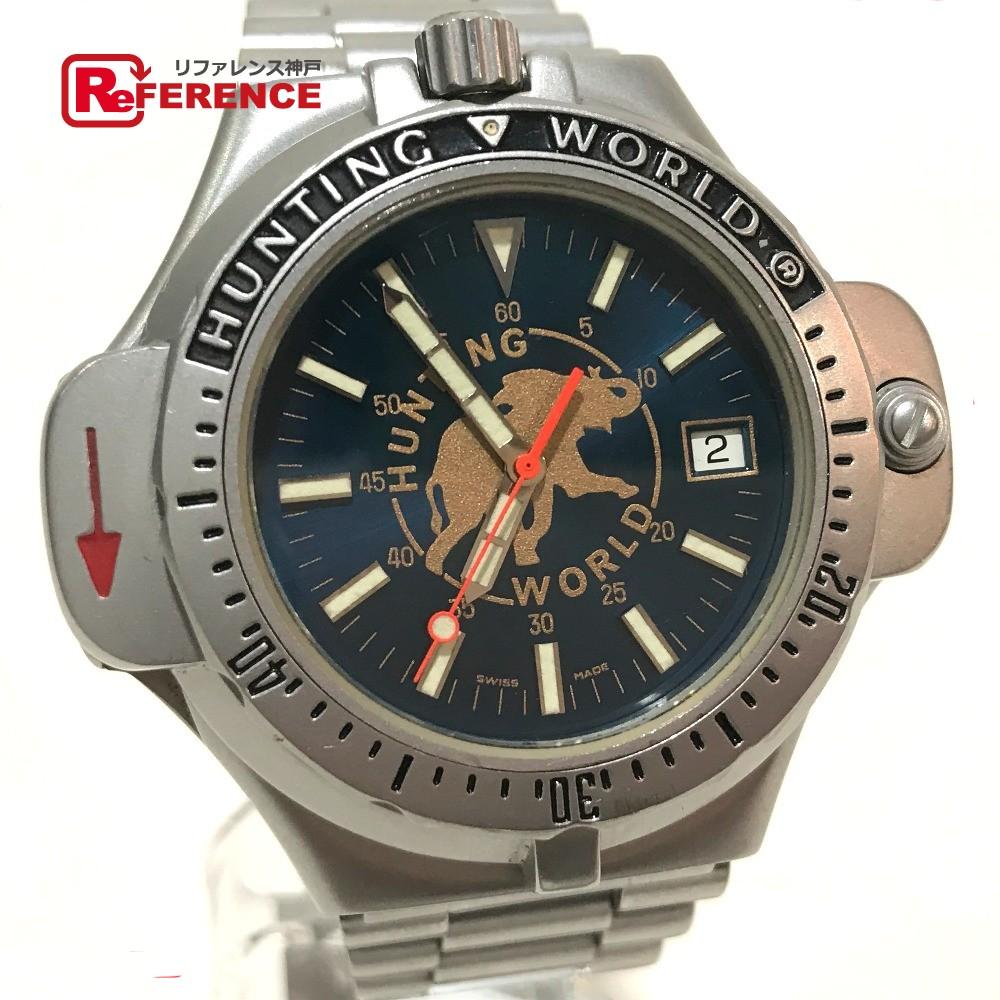 HUNTING WORLD ハンティングワールド CW-17740 メンズ腕時計 コンパスウォッチ SPORT ABOUT 腕時計 SS シルバー メンズ【中古】