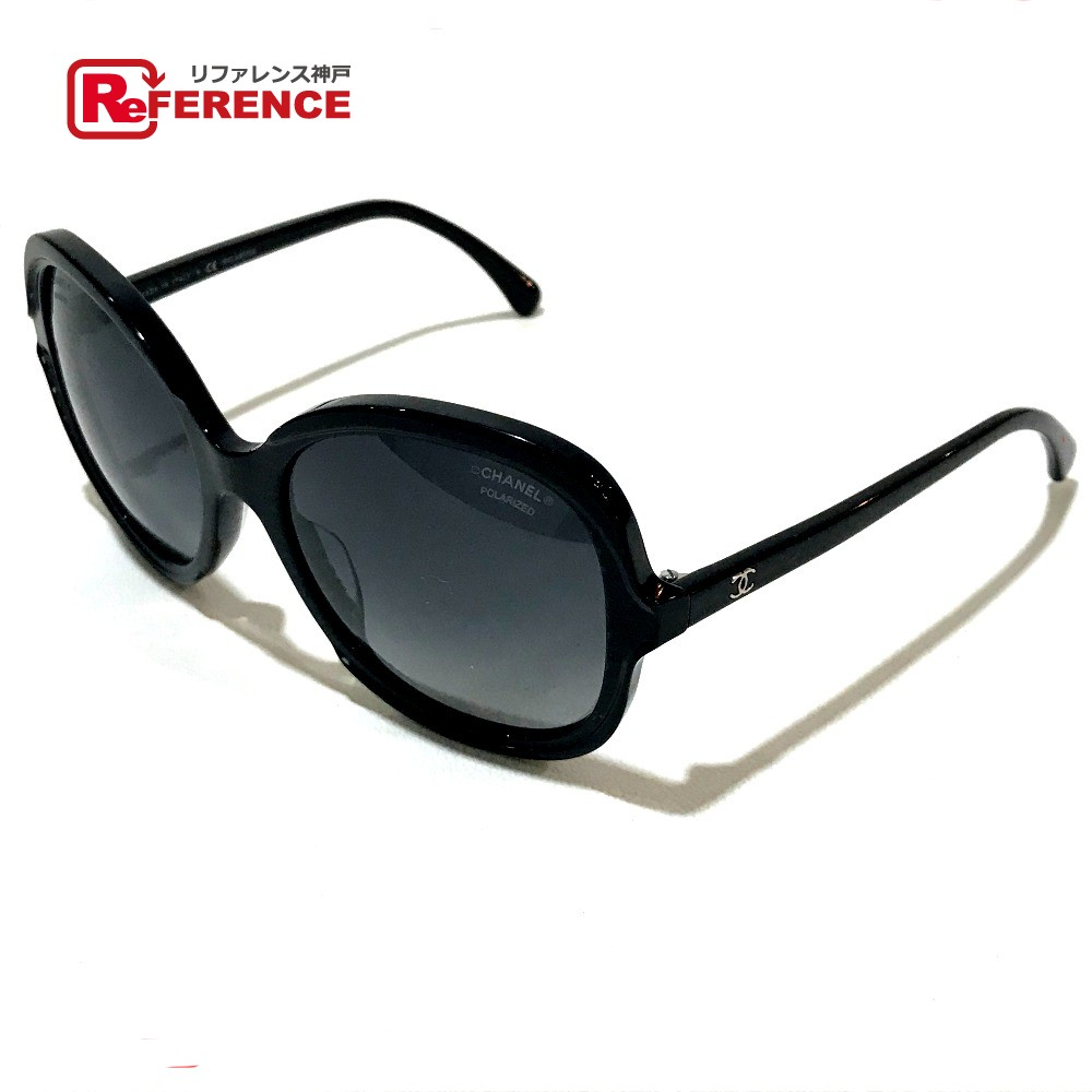 f30f2bb90b0 AUTHENTIC CHANEL CC Coco Men s Women s Square shape sunglasses Blackbased  Plastic 5320-A