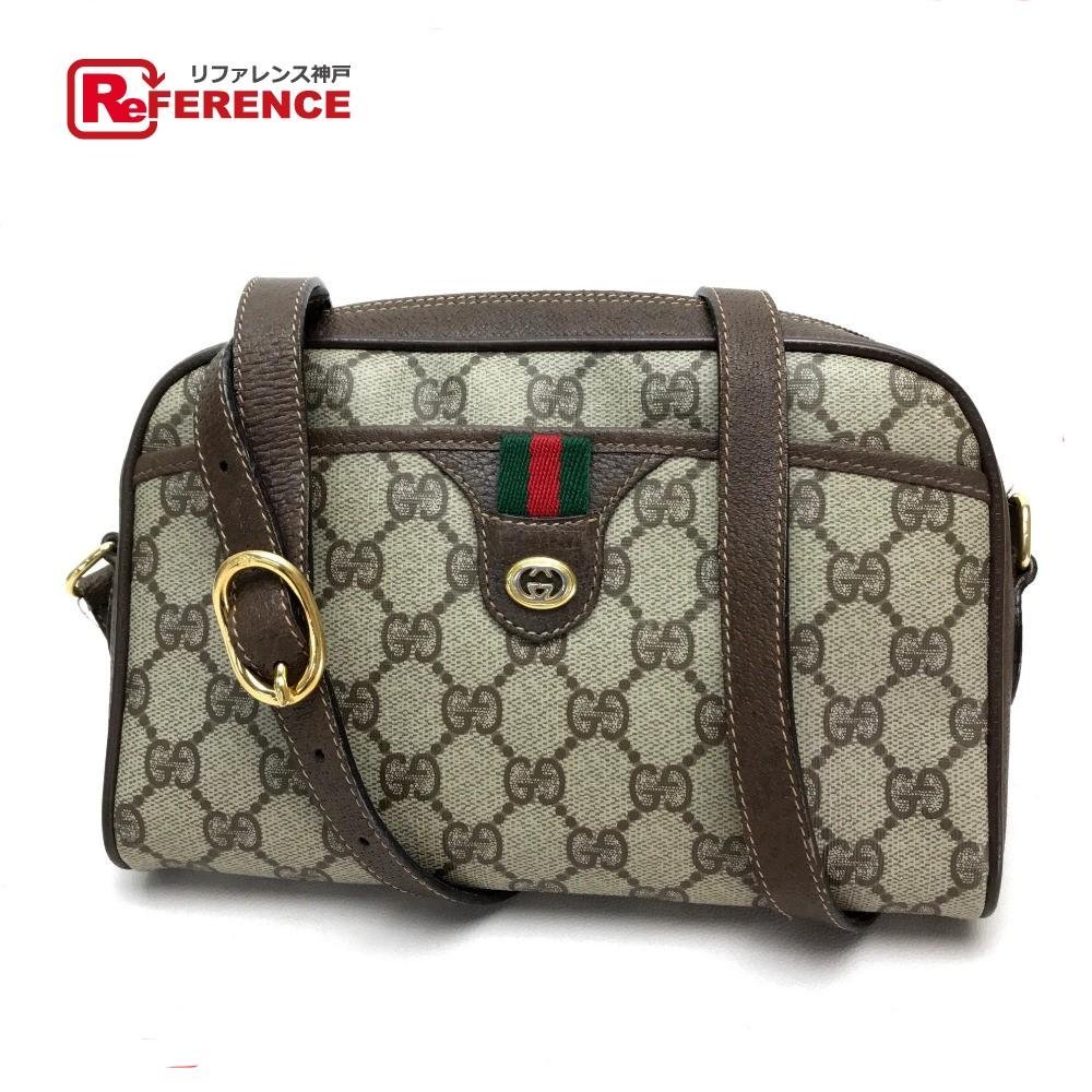 050f7dd718d GUCCI Gucci pochette old Gucci sherry line GG plus shoulder bag PVC X  leather   beige Lady s