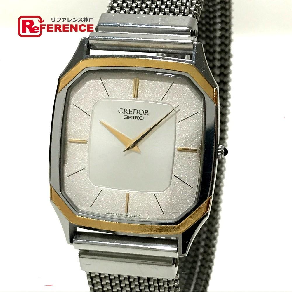 SEIKO セイコー 6730-5130 ボーイズ腕時計 クレドール 腕時計 SS×18K シルバー ボーイズ【中古】