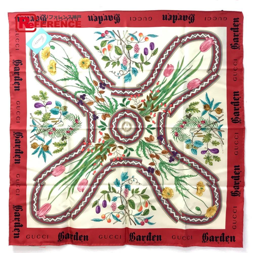 GUCCI グッチ 花柄 フローラ Garden スカーフ シルク/ マルチカラー レディース 未使用【中古】