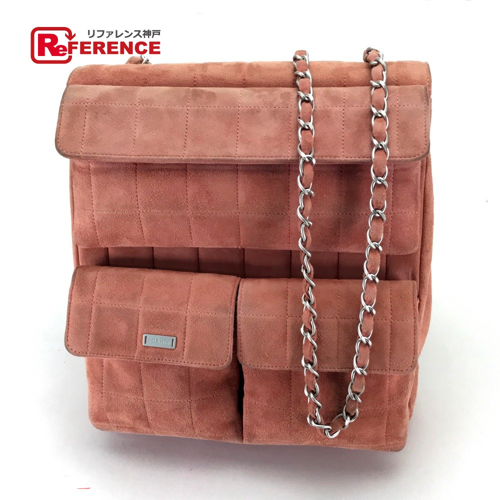 040414300cc3 AUTHENTIC CHANEL 2.55 chocolate bar ChainShoulder Bag Shoulder Crossbody W  Face Shoulder bag Salmon Pink Based ...