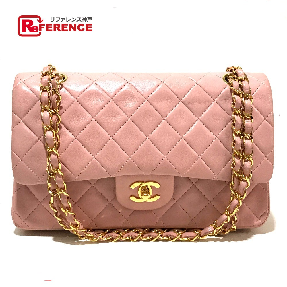 0750136d6aec AUTHENTIC CHANEL CC CC Mark Matelasse 25 Double ChainShoulder W flap  Shoulder bag Pink BeigeBased/GoldHardware Lambskin leather A01112
