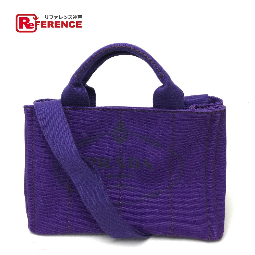 e14140a182d7 AUTHENTIC PRADA Crossbody Tote Bag Canapa TPM logo print included Hand Bag  Shoulder Bag 2way bag purple Denim B2439G