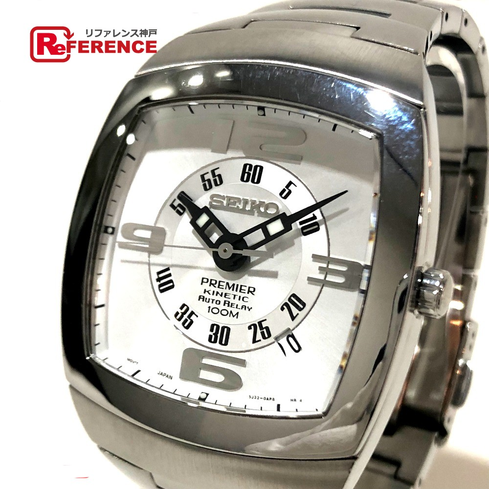 SEIKO セイコー 5J23-0AN0 プルミエ キネティック オートリレー デイト メンズ腕時計 腕時計 SS シルバー メンズ【中古】