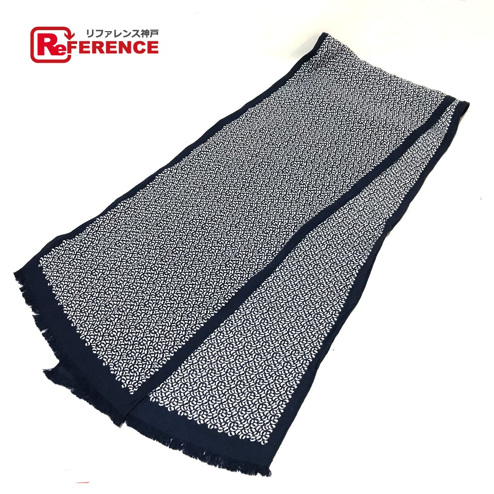 HERMES エルメス ファッション小物 ロサンジュ タグ有り スカーフ ブラック×ホワイト レディース【中古】