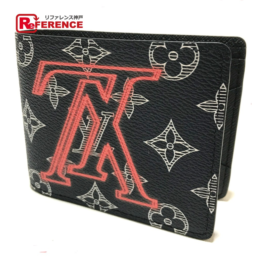 749dae9b9c14 AUTHENTIC LOUIS VUITTON Monogram upside down ink Portefeuille-Multripple  Wallet Bifold wallet Navy MonogramCanvas M62891