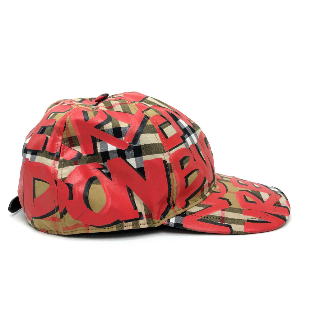 99cf1e381 BURBERRY Burberry graffiti logo paint print baseball cap 18AW men gap Dis  hat cotton / beige men