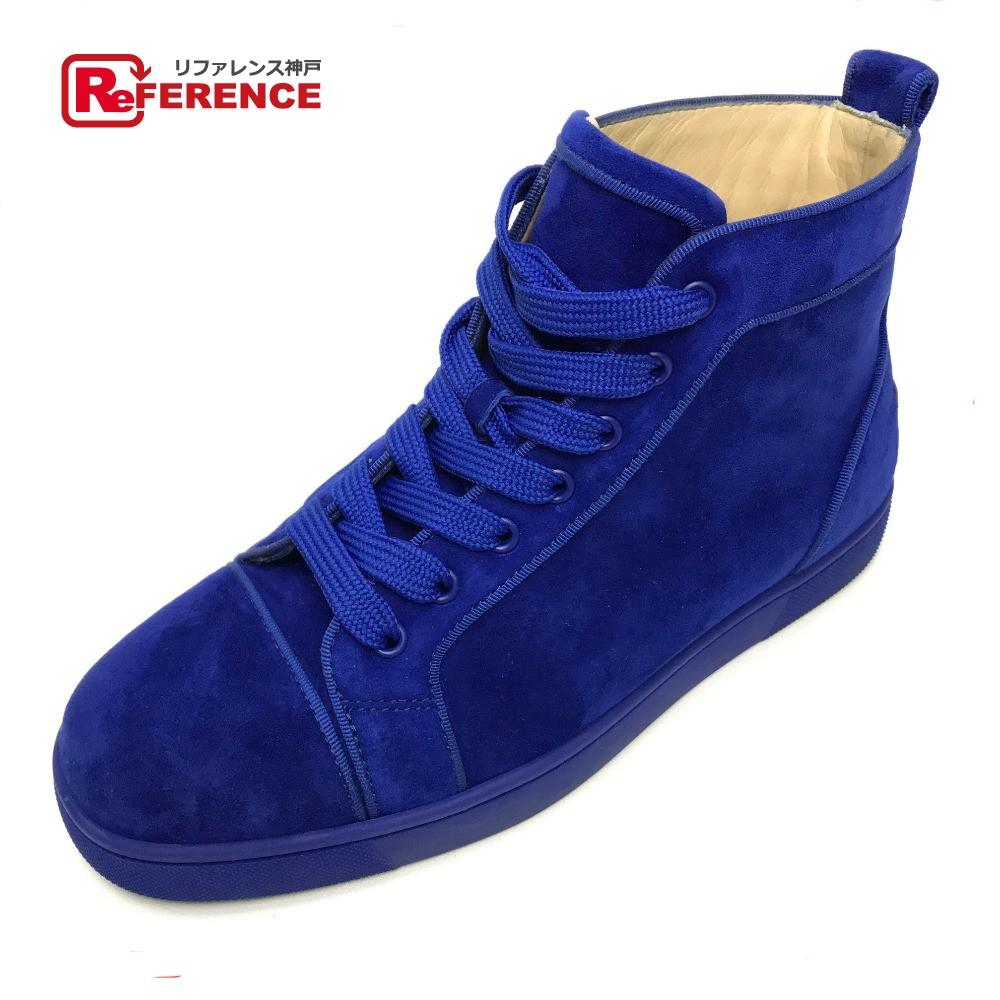 Christian Louboutin クリスチャンルブタン 靴 ハイカットスニーカー スニーカー スエード/ ブルー メンズ【中古】