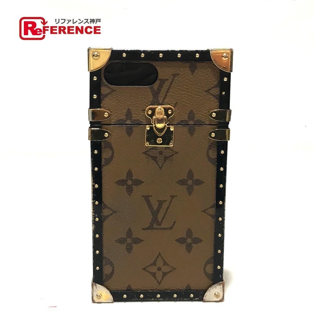 LOUIS VUITTON ルイ・ヴィトン M64487 アイフォンケース アイ トランク iphone7+ モノグラムリバース スマートフォンケース モノグラム・リバース キャンバス/プラスチック レディース【中古】