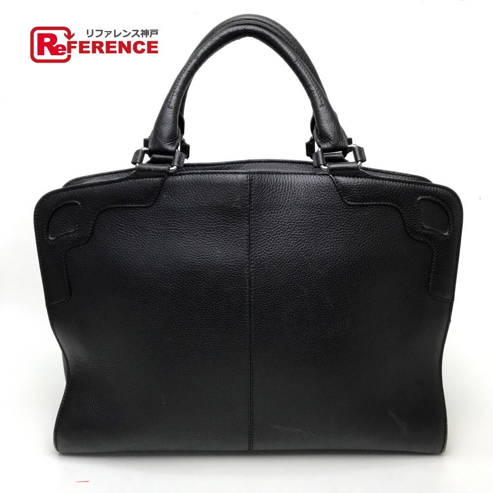 CARTIER カルティエ L1001324 ビジネスバッグ 書類バッグ  ブリーフケース セリエ ドゥ カルティエ ハンドバッグ レザー/ ブラック メンズ【中古】