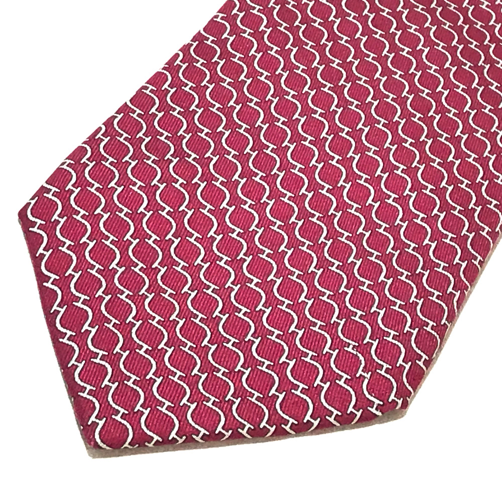 e64f35b4a43c ... HERMES Hermes business item whole pattern fashion accessory tie silk  100% red system men