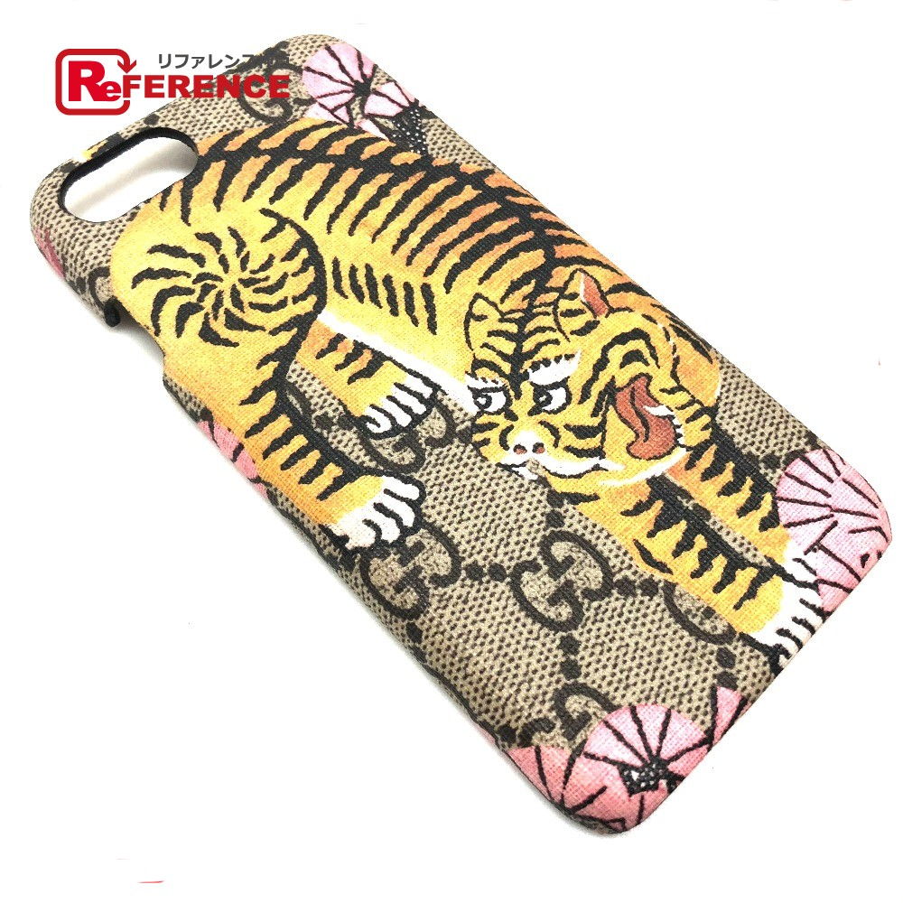new concept 7f95b 4b285 AUTHENTIC GUCCI Unused GG x Bengal Print For iPhone case Cabas - iphone 6  compatible Men's Women's iPhone case Beige/pink / 452365